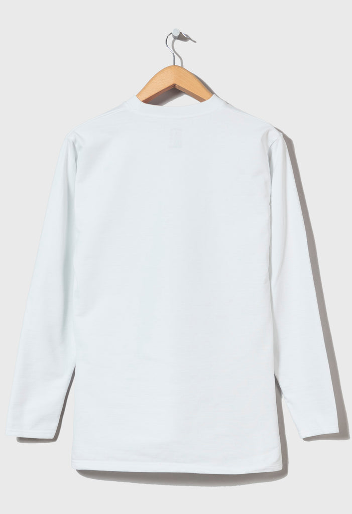 M-5 HEAVYWEIGHT LONG SLEEVE FOOTBALL TOP - (Pluto White)