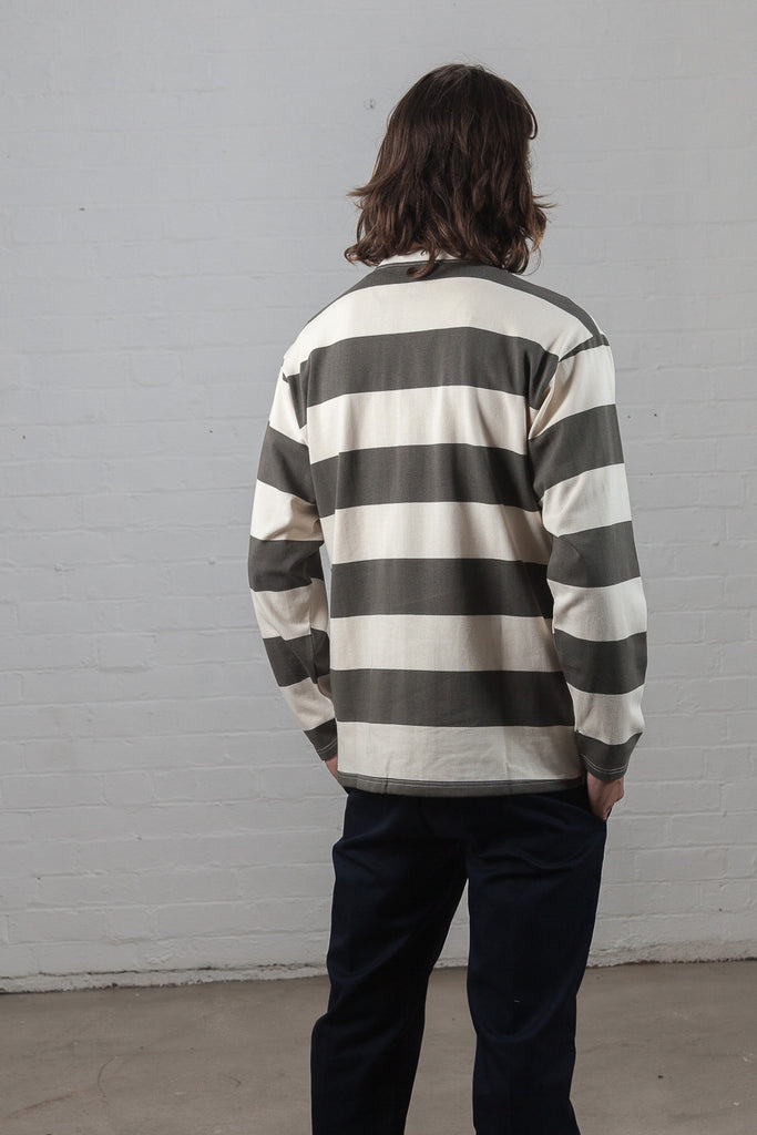 M-5 Long Sleeve Repeat Stripe T-Shirt (Spice)