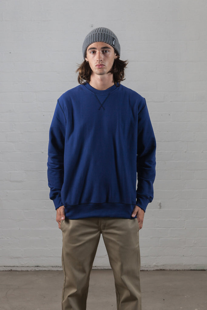 M-21 Heavyweight Crew neck Sweatshirt (Danish Blue)