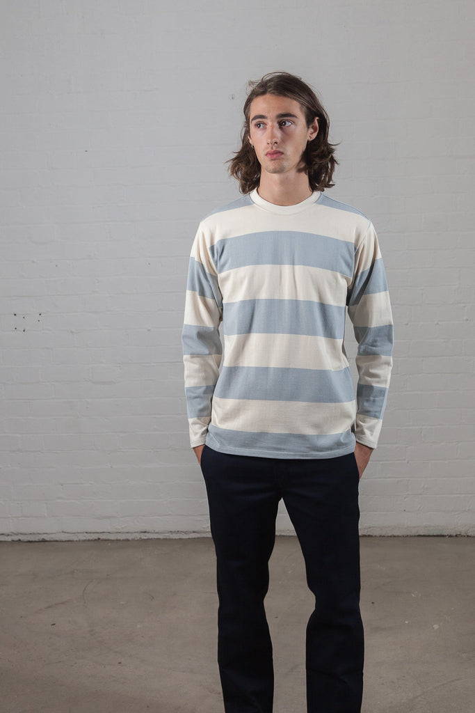 M-5 Long Sleeve Repeat Stripe T-Shirt (Pigeon)