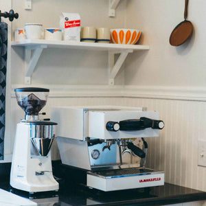 La Marzocco Linea Mini and Grinder | Cast Iron Coffee Roasters