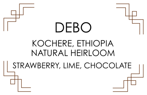 DEBO, ETHIOPIA. Natural Heirloom. Strawberry candy, lime, chocolate.