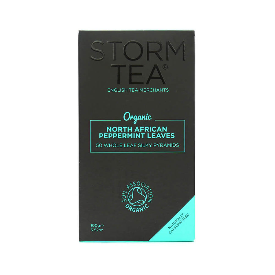 Storm Tea Handcrafted Organic peppermint Whole Leaf 50s