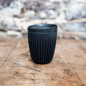 HuskeeCup Reusable Coffee Cup Charcoal 8oz