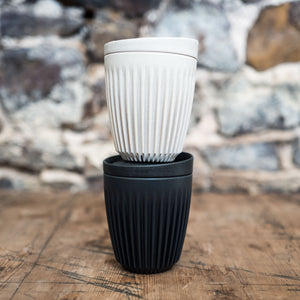 Huskeecup reusable coffee cup stacked| Cast Iron Coffee Roasters