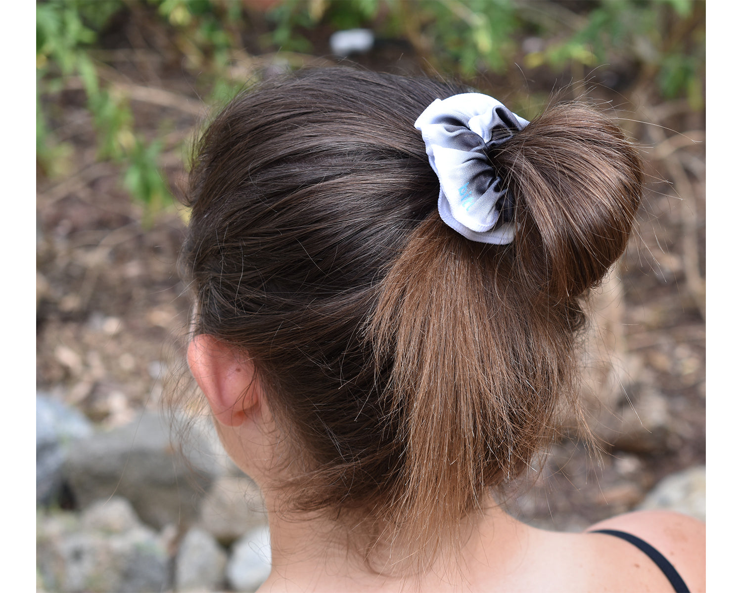 Black Ombre Gymnastics Hair Scrunchie