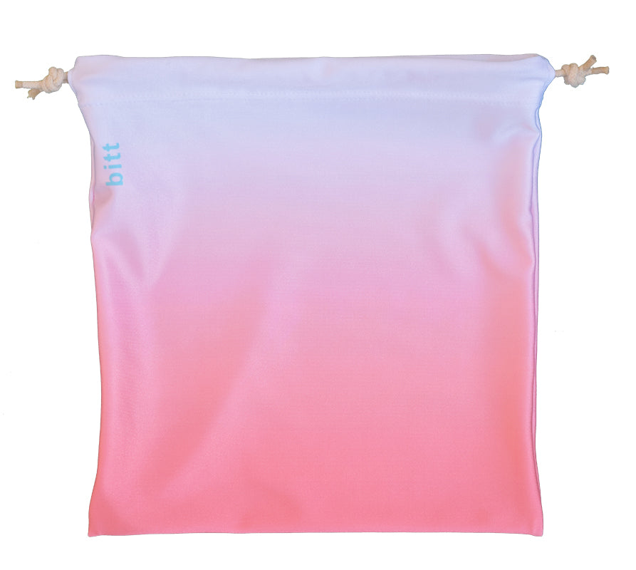 Gymnastics Grip Bag - Coral & White Ombre