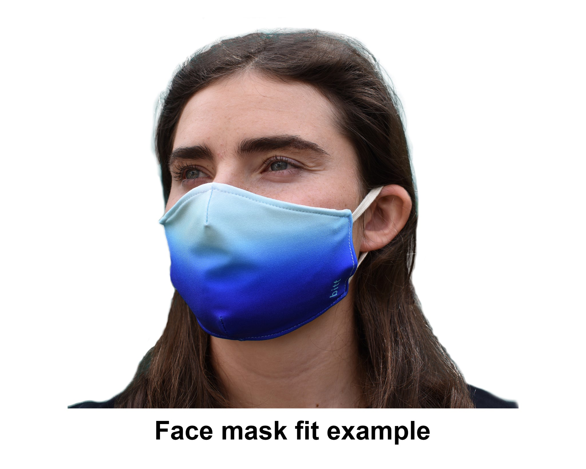Face Mask 3 layers with filter pocket fit example