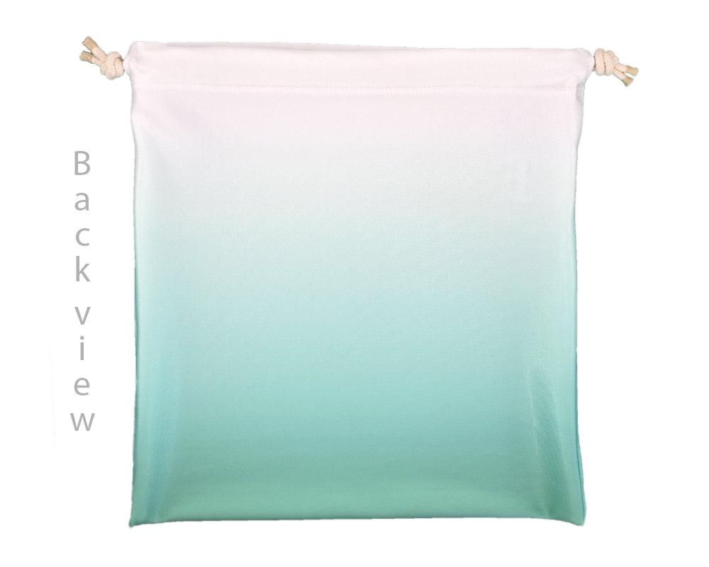 Drawstring Gymnastics Grip Bag Mint & White Ombre