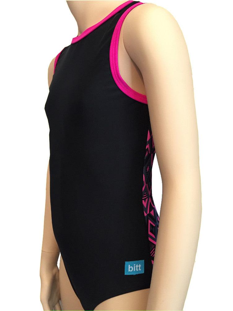 Pink Diamonds Tank Leotard front side