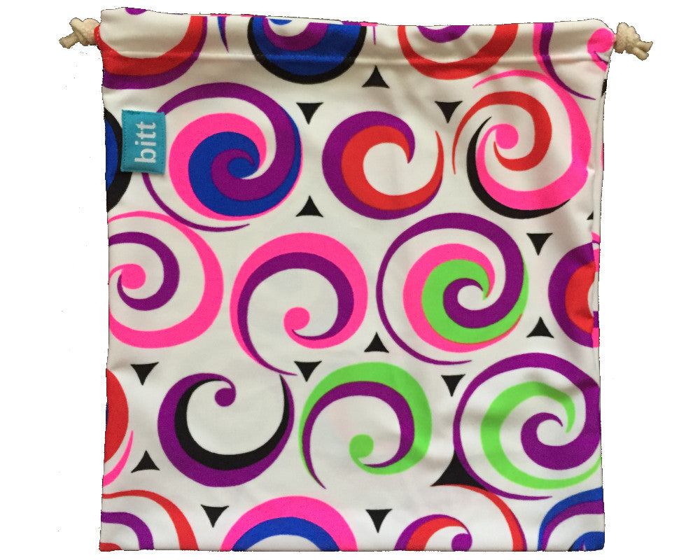 Pink Swirl Grip Bag for Gymnastics Dance Cheer