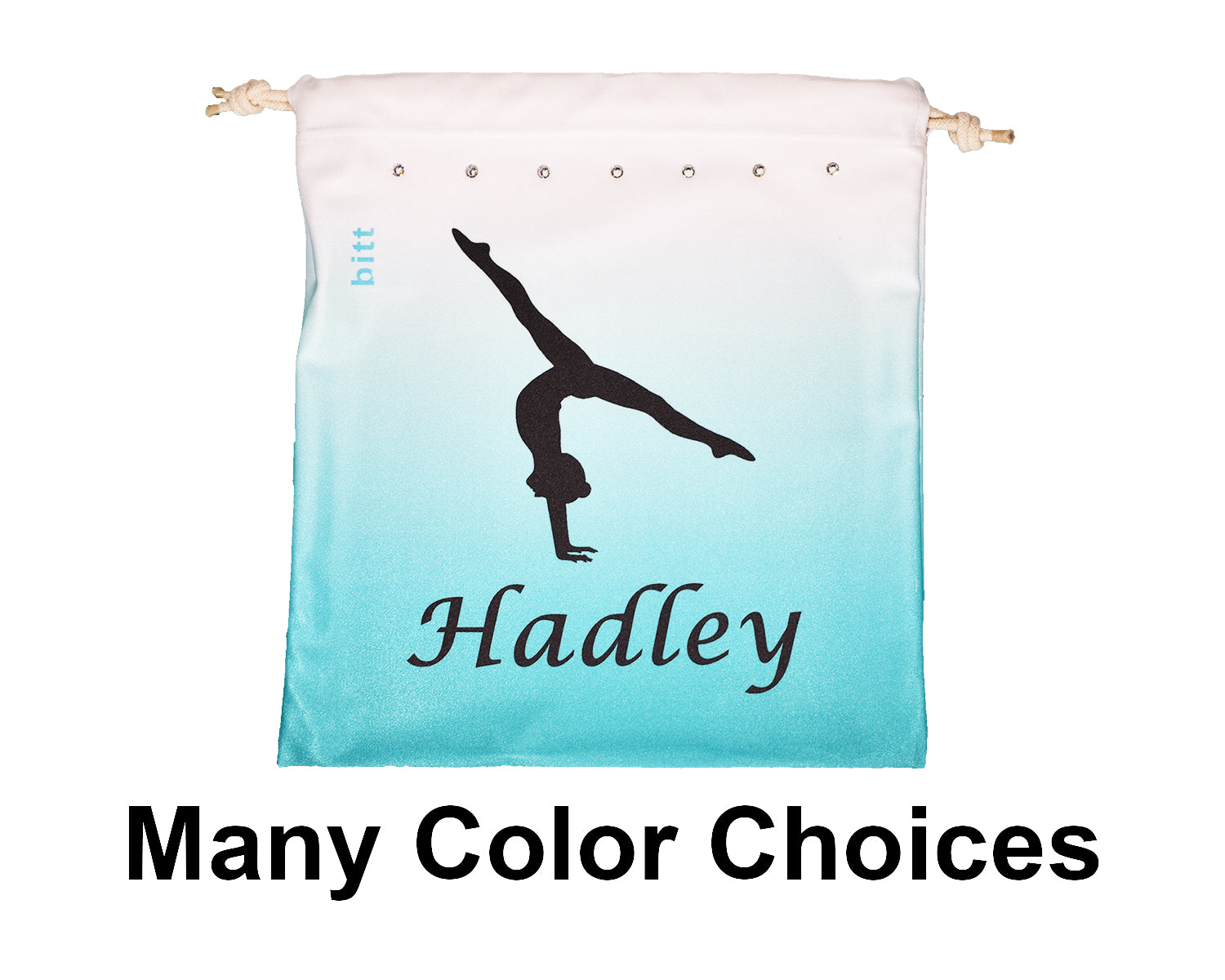 Split Handstand Personalized Gymnastics Grip Bag Ombre