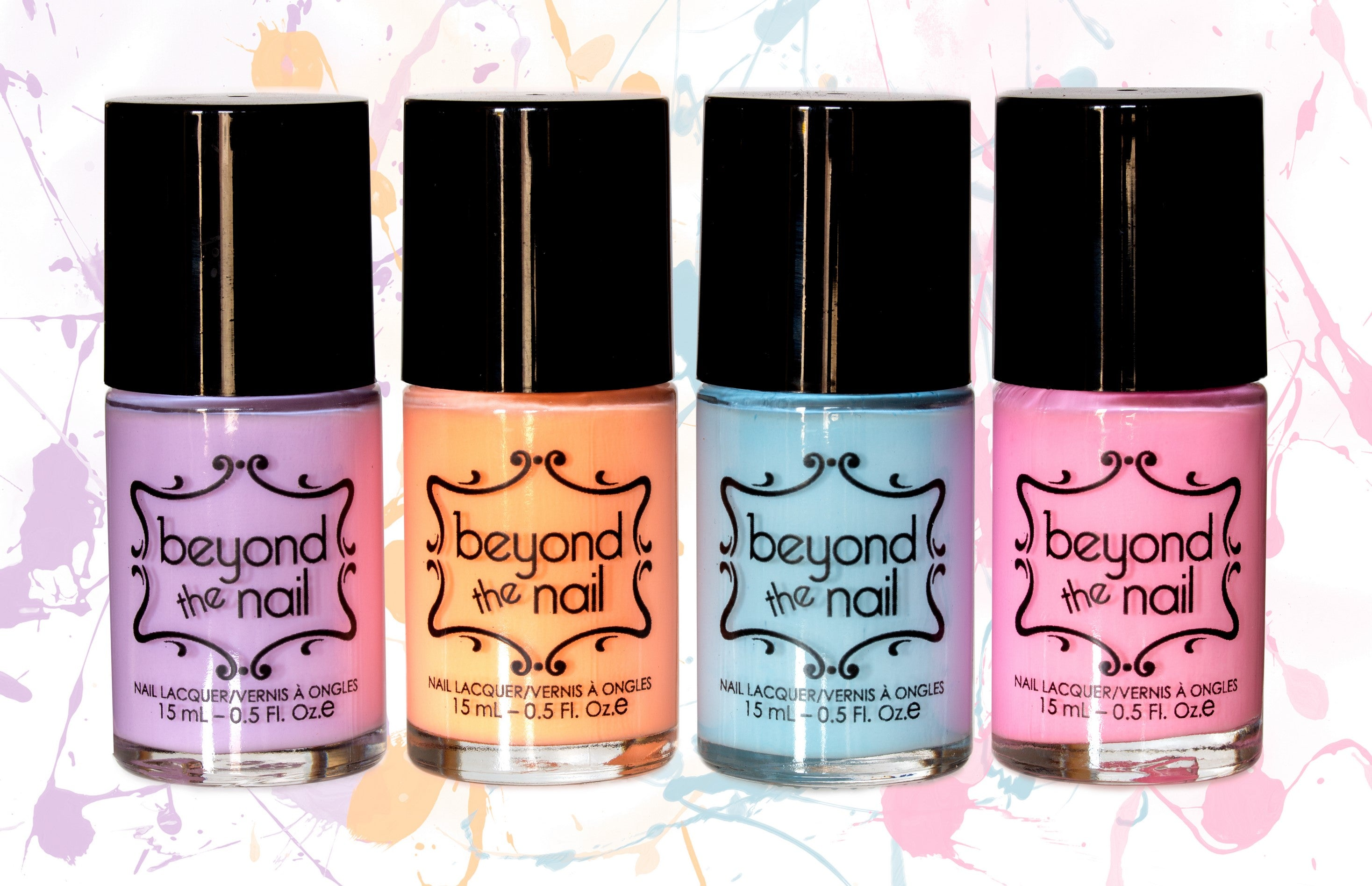 First Release (Set of 4) Soft Neon Nail Polish – Beyond the Nail