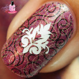 Damask Nail Decals
