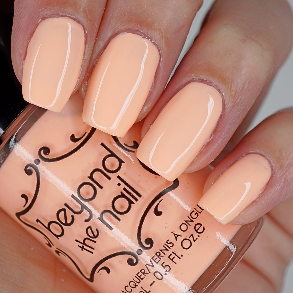 Electric Peach - Soft Neon Nail Polish – Beyond the Nail