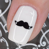 Mustache Nail Decals