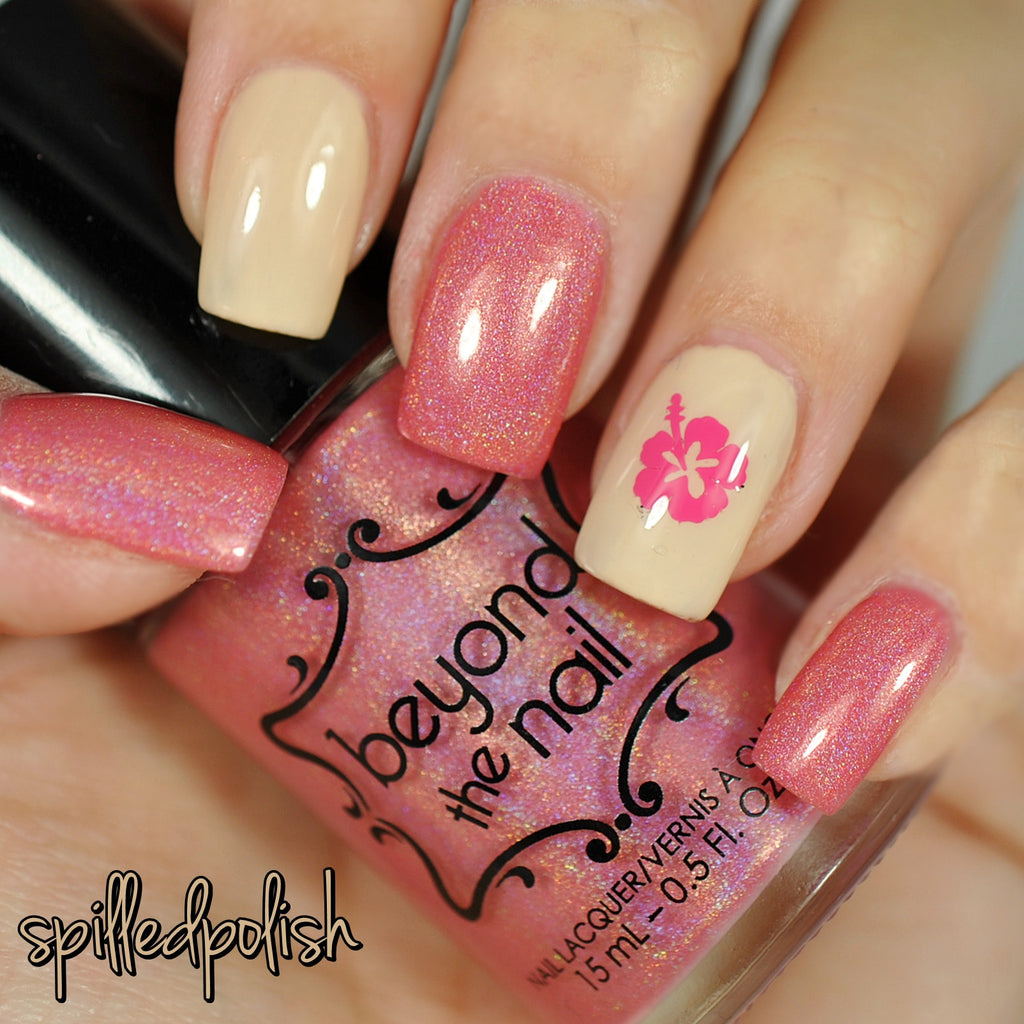 Hibiscus Flower Nail Decals Beyond The Nail