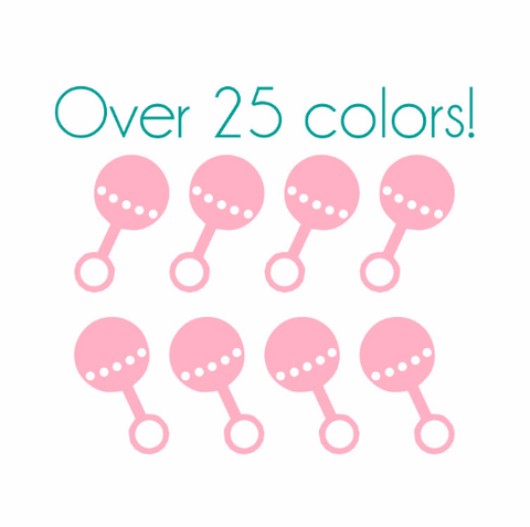 Baby Rattle Nail Decals