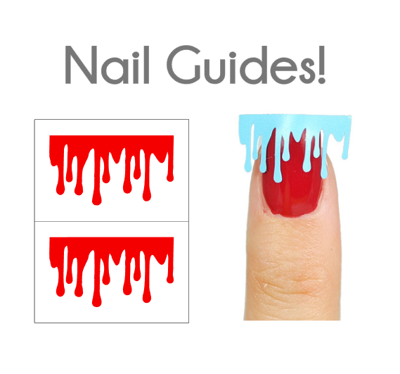 Blood Drip Vinyl Nail Guides