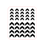 Half Chevron Nail Decals