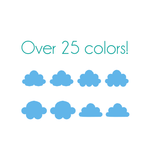 Cloud Nail Decals