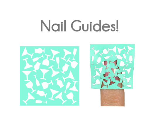 Cocktail Vinyl Nail Guides