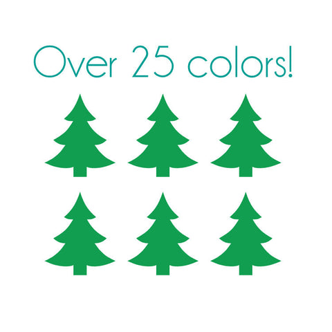 Christmas Tree Nail Decals (Stylish)