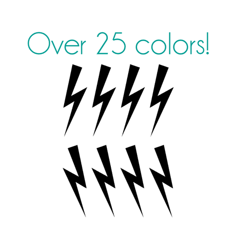 Lightning Bolt 1 Nail Decals