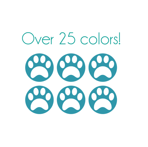 Paw Print Nail Decals
