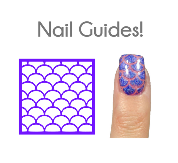 Mermaid Scale Vinyl Nail Guides