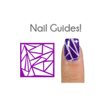 Shattered Glass Vinyl Nail Guides