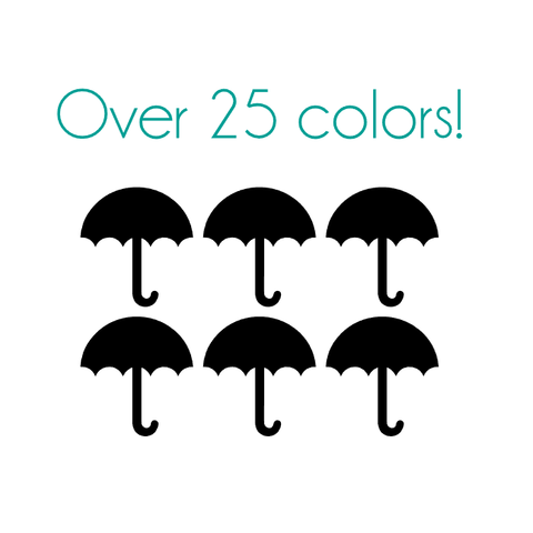 Umbrella Nail Decals