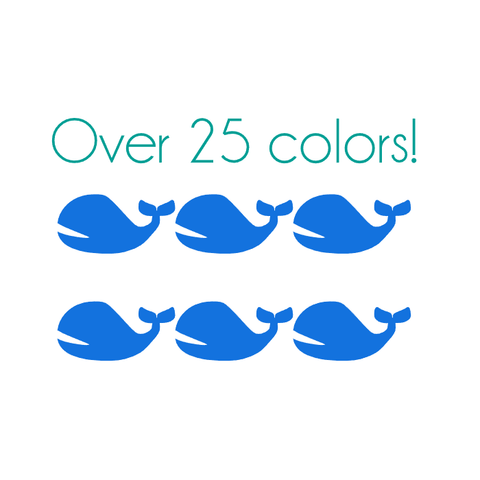 Whale Nail Decals