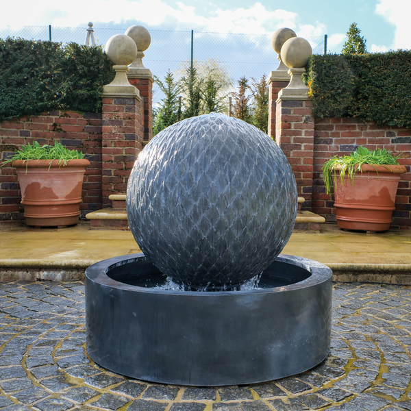 Leaf Ball Water Feature - Round Base