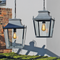 Blenheim Hanging Lanterns - Zinc