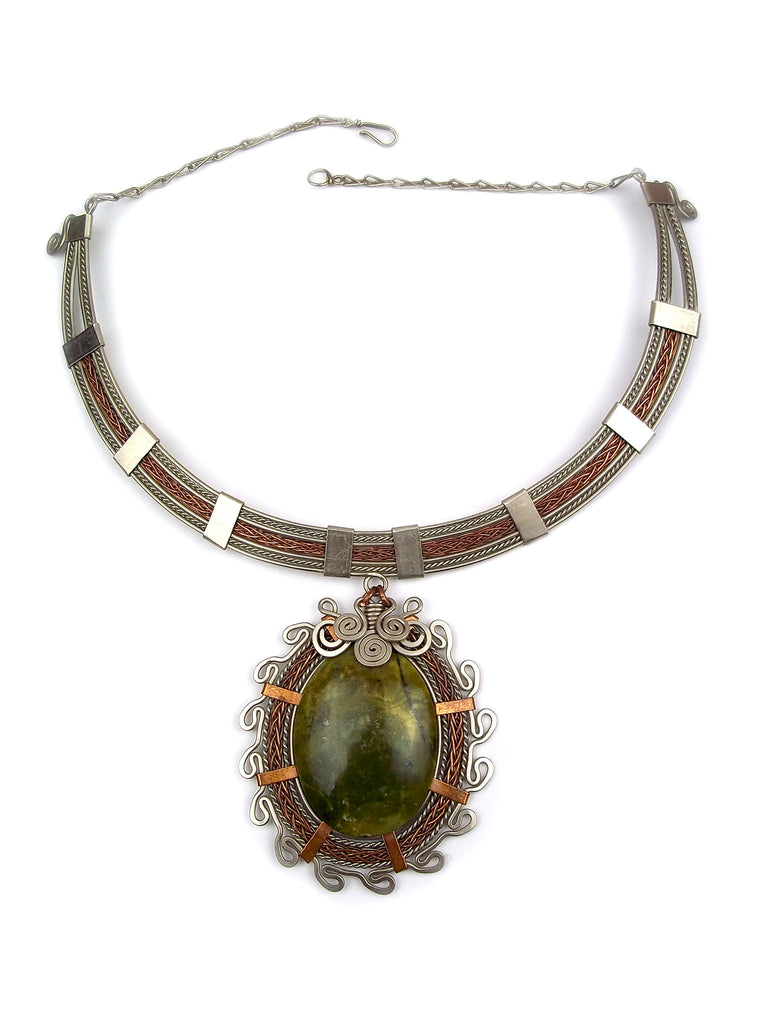"Wire Wrapped Necklace ""Elva"""