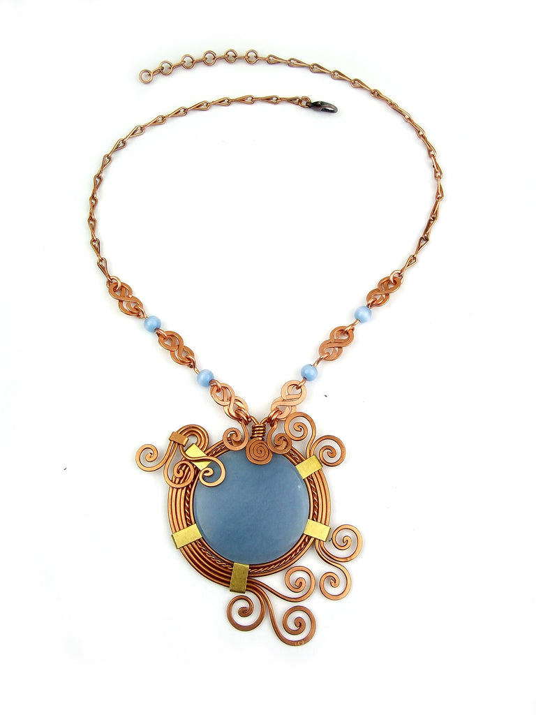 Wire Wrapped Necklace: Athena