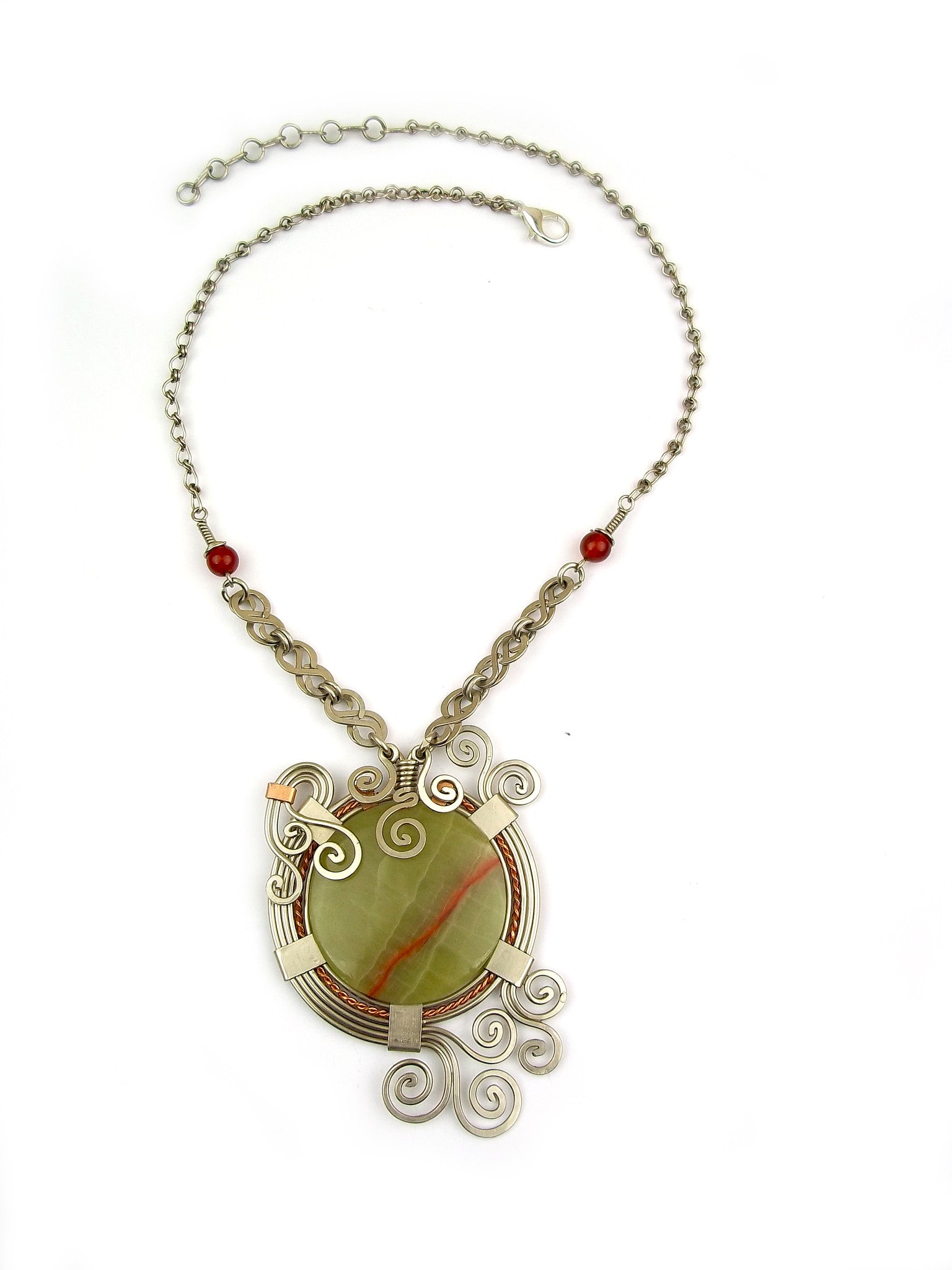 Wire Wrap Necklace: Athena – Wari Designs