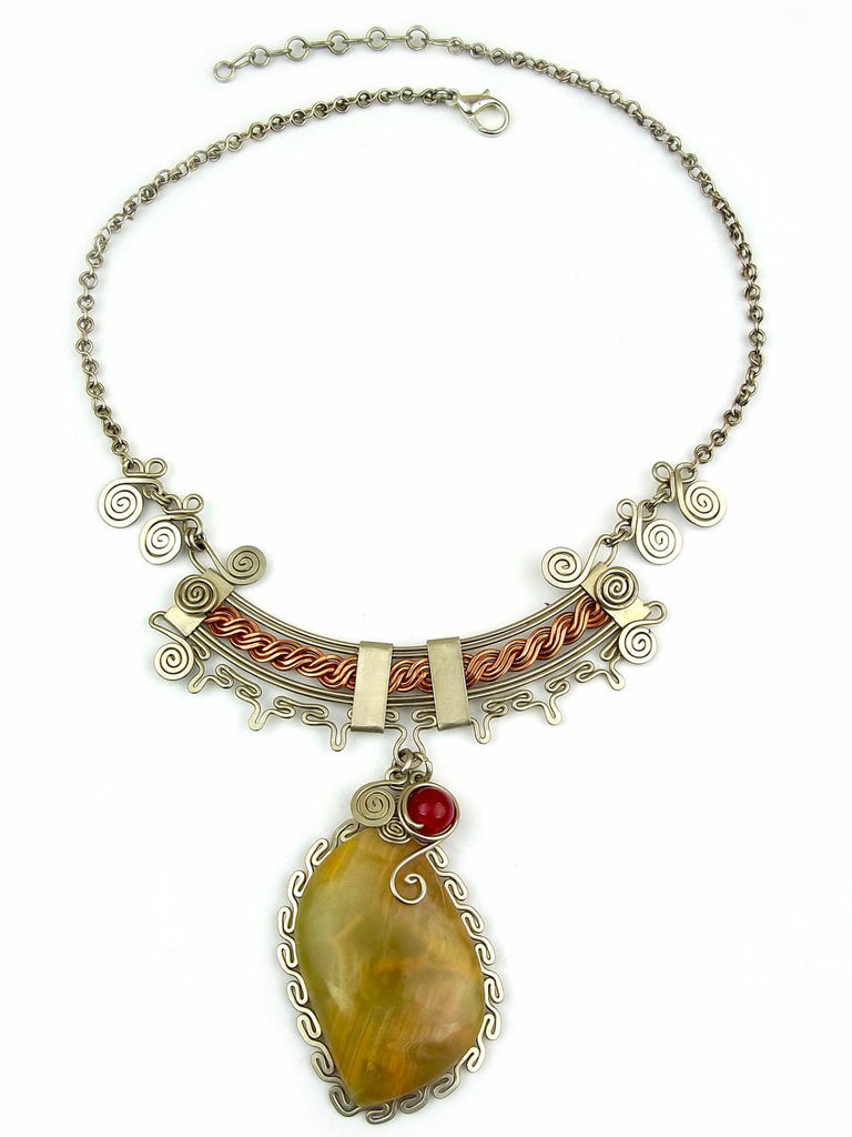 Wire Wrap Necklace: Dora