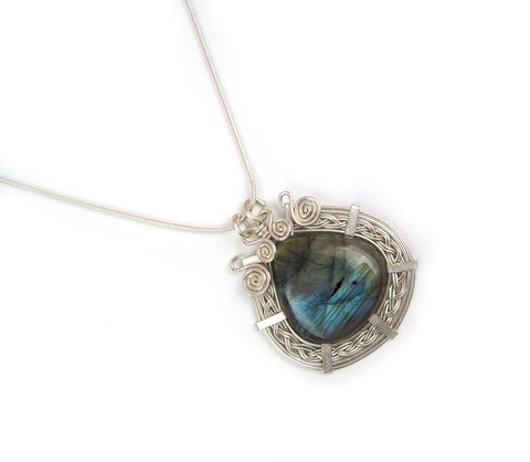 Wire Wrap Sterling Silver Necklace: Nancy