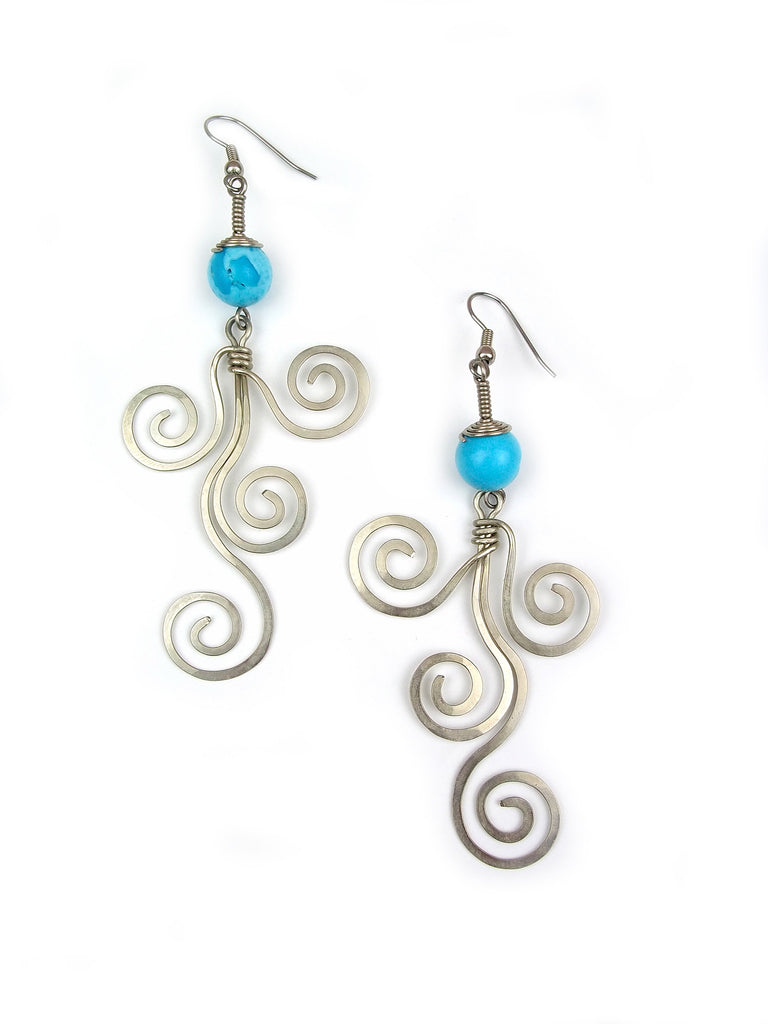 "Wire Wrap Earrings ""Whimsical"""