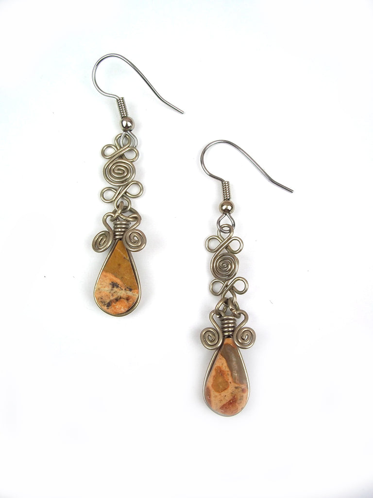 Wire Wrapped Earring: Amy