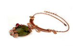 "Wire Wrap Necklace: ""Queen Isis"""