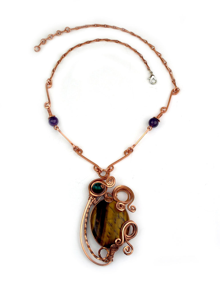 "Wrapped Necklace: ""Osiris"""