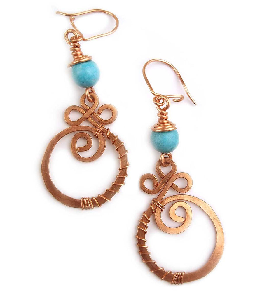 "Wire Wrap Earrings ""Eternity"""