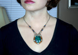 Wire Wrapped Necklace: Cristina