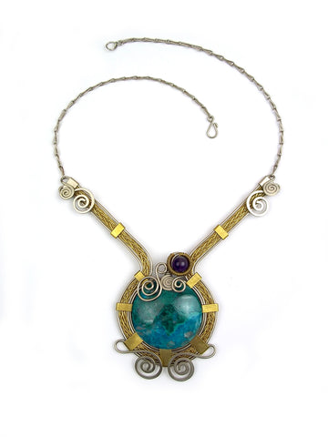"Wire Wrap Necklace ""Josefina"""