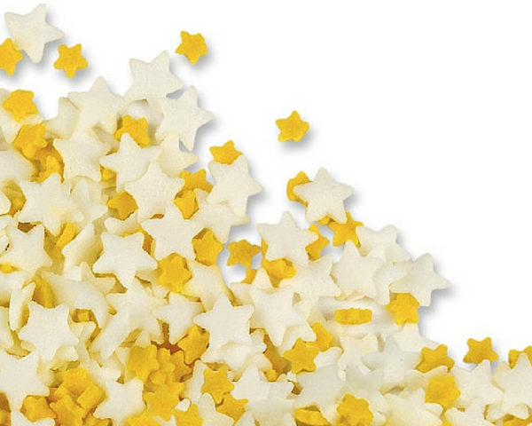 Yellow & White Star Sprinkles
