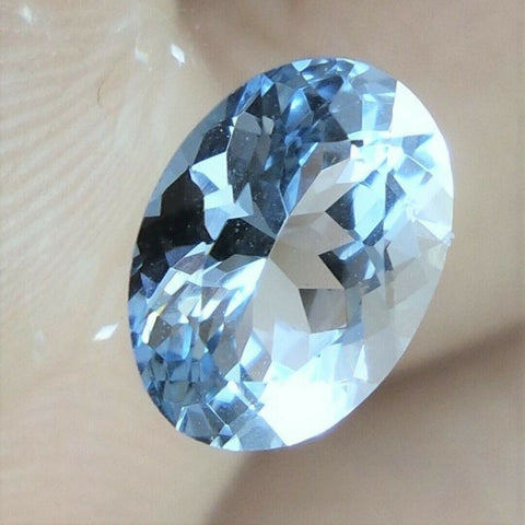 Aquamarine Gem Oval Cut 1/2 Ct Light Blue Brazil Genuine Gemstone Natural