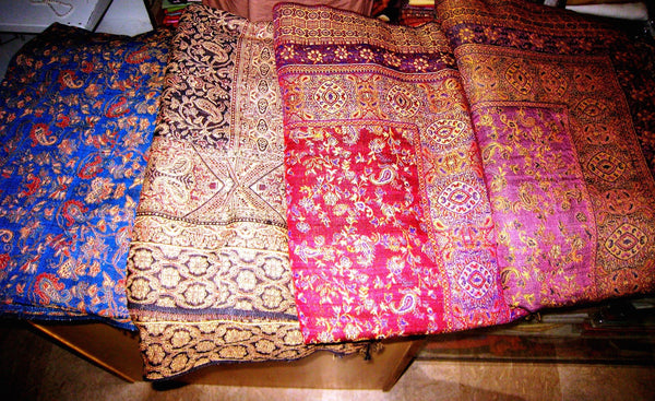 Cashmere Blanket Afghan Bed Spread Wool Ethnic Indian